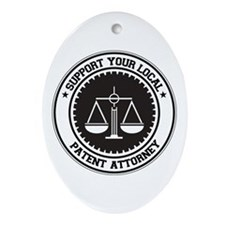 Support Patent Attorney Oval Ornament