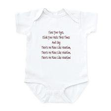 No Place Vacation Infant Bodysuit
