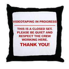 Videographer Throw Pillow