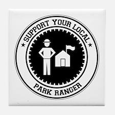 Support Park Ranger Tile Coaster