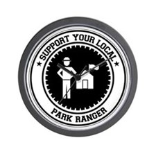 Support Park Ranger Wall Clock
