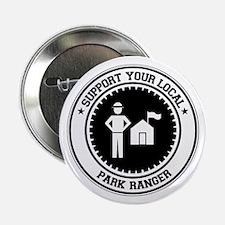 """Support Park Ranger 2.25"""" Button"""
