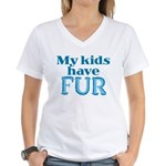 Kids Have Fur Women's V-Neck T-Shirt