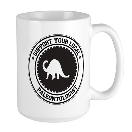 Support Paleontologist Large Mug