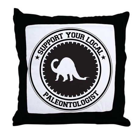Support Paleontologist Throw Pillow