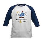 6th Birthday Sailboat Party Kids Baseball Jersey