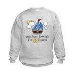 6th Birthday Sailboat Party Kids Sweatshirt