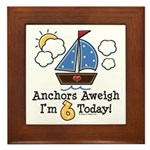 6th Birthday Sailboat Party Framed Tile