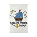 6th Birthday Sailboat Party Rectangle Magnet (100