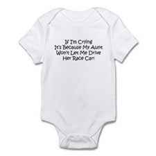 My Aunts Race Car Infant Bodysuit
