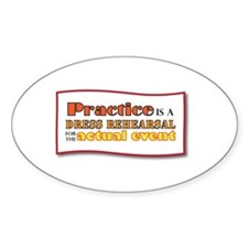Practice Oval Decal