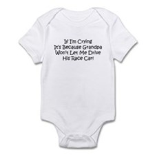 My Grandpas Race Car Infant Bodysuit