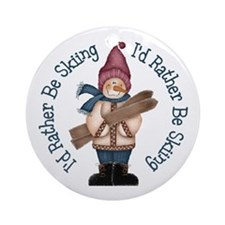 I'd Rather Be Skiing Ornament (Round)