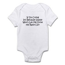 My Daddys Race Car Infant Bodysuit