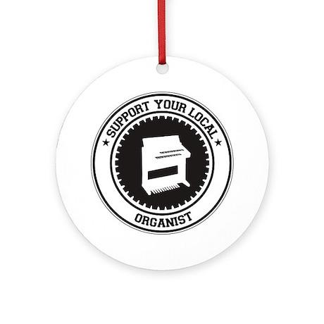 Support Organist Ornament (Round)