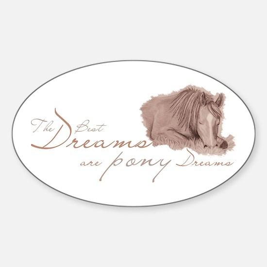 Pony Dreams Oval Decal