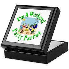 Weekend Parrot Keepsake Box