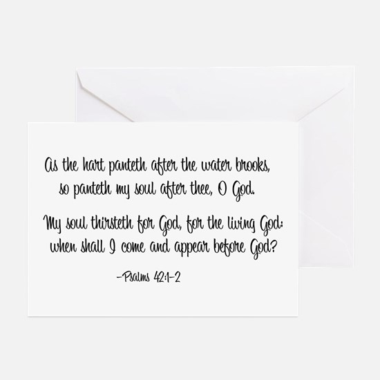 """""""As the Hart"""" Greeting Cards (Pk of 10)"""
