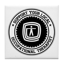 Support Occupational Therapist Tile Coaster
