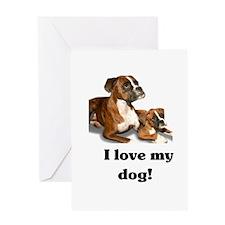 I love my Dog! Greeting Card