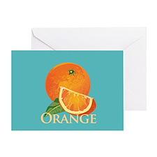 Orange and Orange Slice Greeting Card