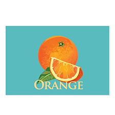 Orange and Orange Slice Postcards (Package of 8)