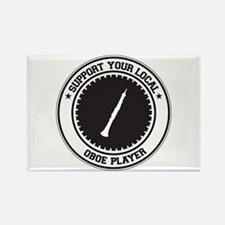 Support Oboe Player Rectangle Magnet