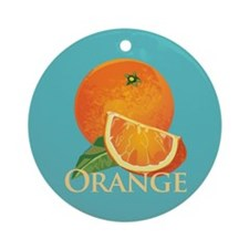 Orange and Orange Slice Ornament (Round)