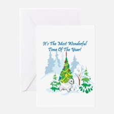 Christmas Time Westie Greeting Card