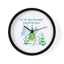 Christmas Time Westie Wall Clock