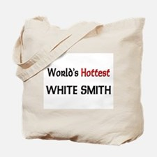 World's Hottest White Smith Tote Bag