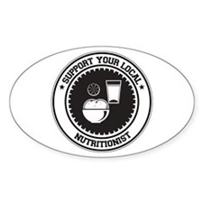 Support Nutritionist Oval Decal