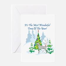 Christmas Time Weimaraner Greeting Card