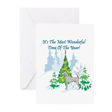 Christmas Time Weimaraner Greeting Cards (Pk of 20