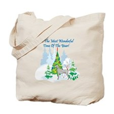 Christmas Time Weimaraner Tote Bag