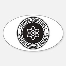 Support Nuclear Medicine Specialist Oval Decal