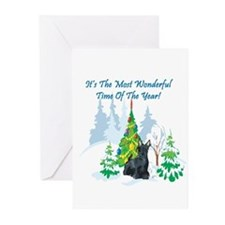 Christmas Time Scottie Greeting Cards (Pk of 20)