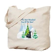 Christmas Time Scottie Tote Bag