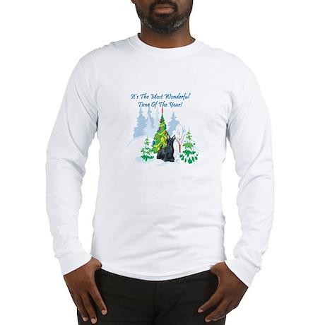 Christmas Time Scottie Long Sleeve T-Shirt