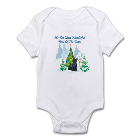 Christmas Time Scottie Infant Bodysuit