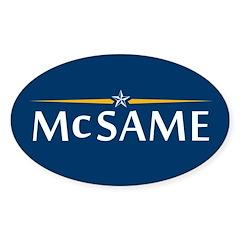Mc Same Oval Sticker (10 pk)