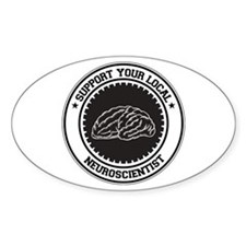 Support Neuroscientist Oval Decal