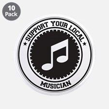 "Support Musician 3.5"" Button (10 pack)"