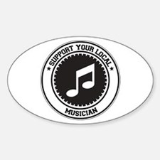 Support Musician Oval Decal