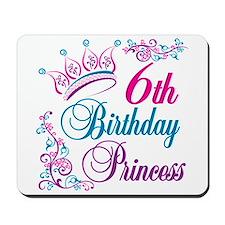 6th Birthday Princess Mousepad