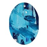 Ocean Tide Painting Oval Ornament