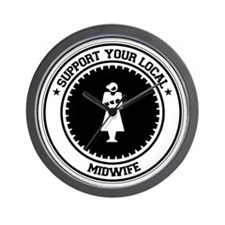 Support Midwife Wall Clock