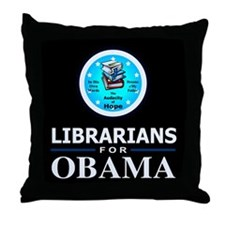 Librarians for Obama Throw Pillow