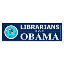 Librarians for Obama Bumper Bumper Sticker