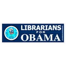 Librarians for Obama Bumper Bumper Stickers